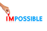 "Hand and word ""I'm possible"""