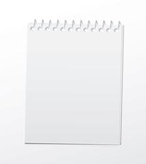 Blank spiral notepad.