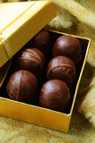 chocolates in a gift box - sweet dessert