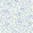 Illustration of envelope doodles on school paper