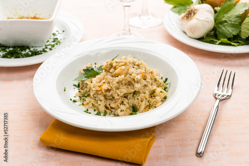 Risotto con le rane - Rice with frogs