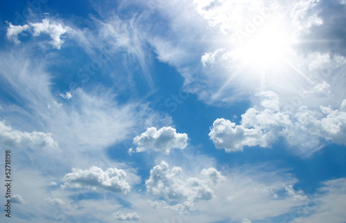white clouds - 52718198