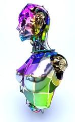 Cyborg, robot, Androide volto maschera