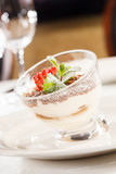 Tiramisu with strawberry