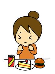 食べない女性