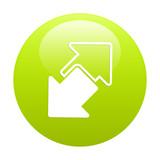 button internet connection disconnect arrow icon poster