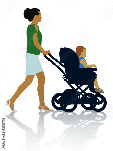 Mother and child on the walk