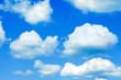 blue sky and cumulus clouds