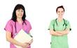 Friendly women doctors or nurses