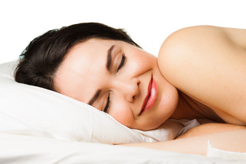 Portrait of beautiful  sleeping woman