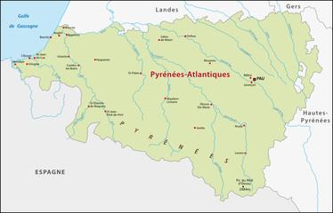 Département Pyrénées-Atlantiques, France