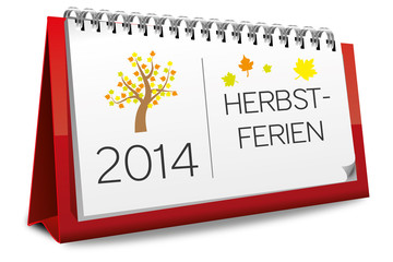 Kalender 2014 Ferien Herbstferien Herbst Herbstblätter