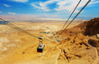 Cable car in fortress Masada - 52725997