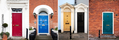 Collection of Typical English town house doors