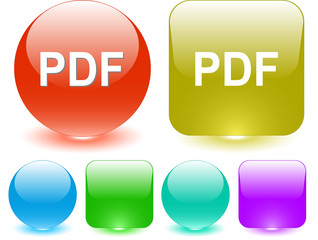 Pdf. Vector interface element.