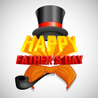 vector illustration of Happy Father's Day background