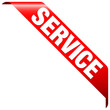 "Banner ""Service"" rot"