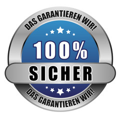5 Star Button blau 100% SICHER DGW DGW