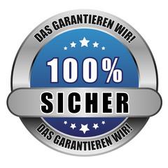 5 Star Button blau 100% SICHER DGW DGW