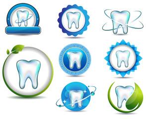 Teeth health care symbols.