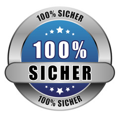 5 Star Button blau 100% SICHER DTO DTO