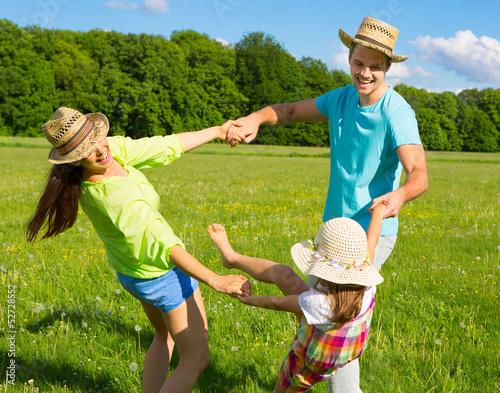 familie in bewegung