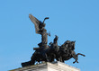 Angel of Peace sculpture on top of Wellington Arch in London