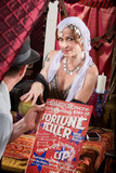 Customer with Fortune Teller poster