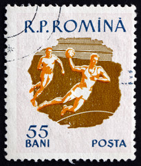 Postage stamp Romania 1959 Field Ball, Sport