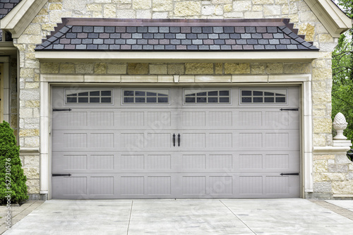Traditional two car garage