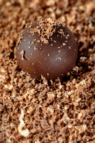 Chocolate cake truffle.