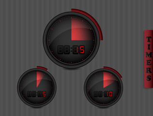 Digital Timers dark collection