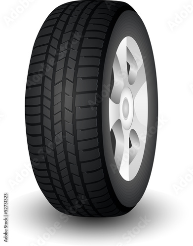 New Dark Modern Car Wheel with Tyre