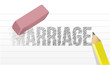 erase marriage concept illustration design