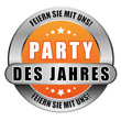 5 Star Button orange PARTY DES JAHRES FSMU FSMU