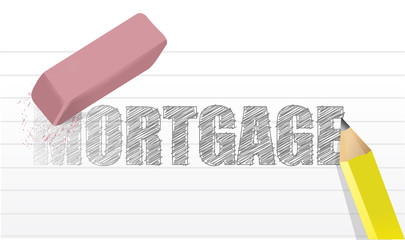 erase mortgage concept illustration design