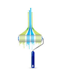 paint roller leader graph illustration design