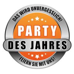 5 Star Button orange PARTY DES JAHRES DWU FSMU