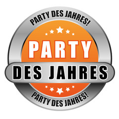 5 Star Button orange PARTY DES JAHRES PDJ PDJ