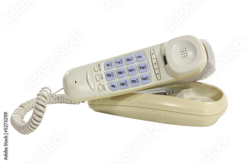 Funky Old Phone with Clipping Path