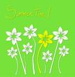 motivo floreale astratto su sfondo verde