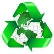 Recycle Symbol Wrapped Around the Earth