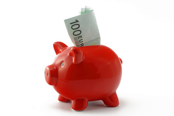 sparschwein mit 100 euro