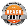 5 Star Button orange BEACH PARTY JWG JWG