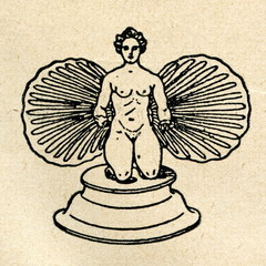 Aphrodite flanked by cockle-shells (terracotta, Louvre)