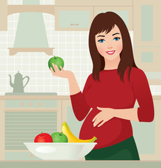 Pregnancy and healthy food