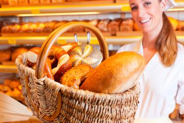 Female baker in her bakery