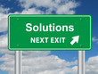 SOLUTIONS NEXT EXIT Signpost (ideas business innovation success)