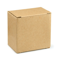 Closed brown cardboard box