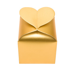 Golden box with heart